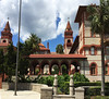 Flagler built the Ponce de Leon Hotel, which is now used as Flagler College, before he built the Lightner.  April, 2016.