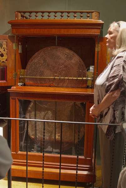 Another day in Old Town arriving at the Lightner Museum in time for a demonstration of a few of its collection of music boxes.  In this one the large disk rotated to produce the sound.  Wonderful instruments, many from Europe. April, 2016.