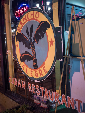 We arrived in Savannah—just for the night—before travelling on to Florida. Dinner was a walk from our hote; Rancho Alegre, Cuban restaurant. Good!