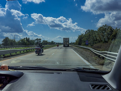 Yep...I=95 all trhe way. My least favorite road. Oh! Please ignore baby head in lower left.
