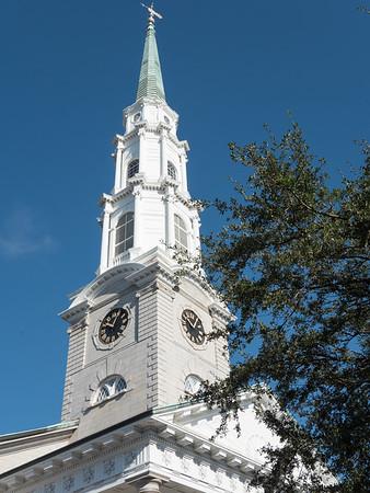 Clocktower on the Independent Presbyterian Church.