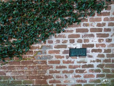 Savannah mail slot is in this brick wall.