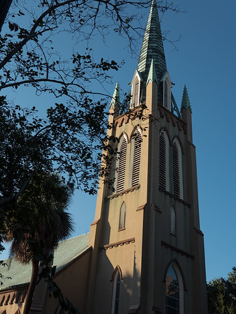 One of many of  Savannah's beautiful churches. This is St. John's on Charlton Street.