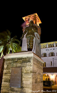 Statue of Don Pedro Menendez, founder of St. Augustine, Florida.