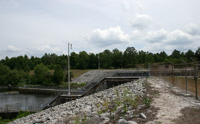 One end of the Buckman Lock - unfortunately you cannot get close enough to view the inside of the lock anymore.