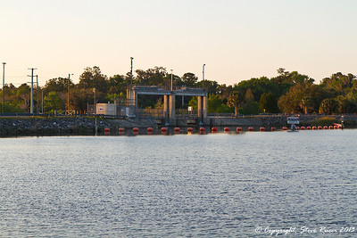The Inglis Main Spillway at Lake Roussseau, on the Cross Florida Barge Canal.