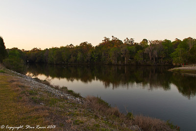 Looking down the Withlacoochee River behind the Inglis Main Spillway on the Cross Florida Barge Canal.