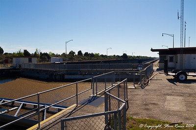 View of the Inglis Lock on the Cross Florida Barge Canal.