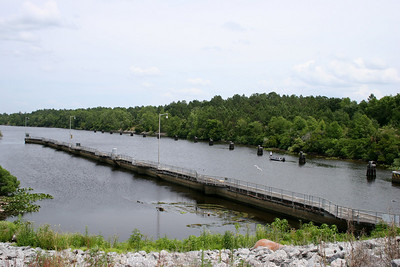 View looking out from the end of the Buckman Lock.