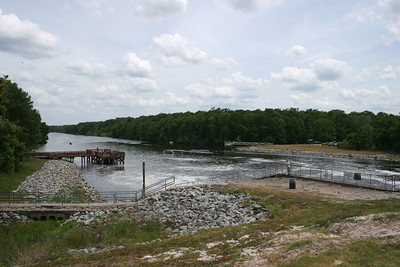 Looking down the Oklawaha River from the Kirkpatrick Dam.