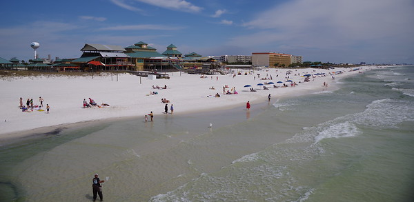 From the pier on Okaloosa Island