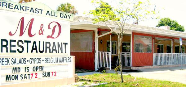 M&D's Restaurant - Osprey, Florida - Sign