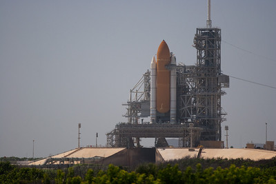 Space Shuttle Discovery on Launch Pad 39A -- Touring the Kennedy Space Center