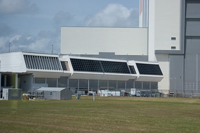 Launch Control building next to the VAB -- Touring the Kennedy Space Center
