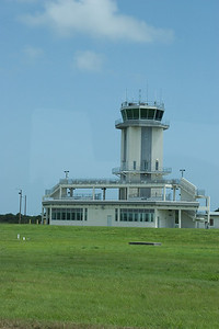 """Our """"NASA Up Close Tour"""" included the shuttle landing strip, for which this is the control tower -- Touring the Kennedy Space Center"""