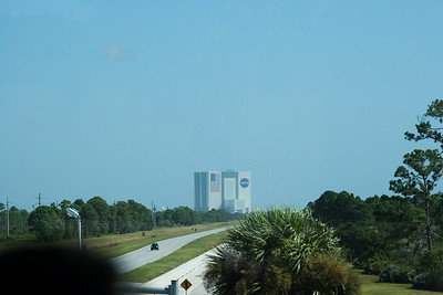 The 525-foot tall Vehicle Assembly Building (VAB) is visible from all over KSC -- Touring the Kennedy Space Center