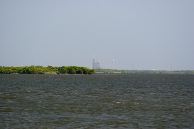 Launch Pad 39A with Space Shuttle Discovery, seen from the Causeway -- Touring the Kennedy Space Center