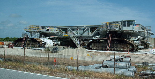The Crawler (used for transporting the Space Shuttle from the VAB to the launch pad) -- Touring the Kennedy Space Center