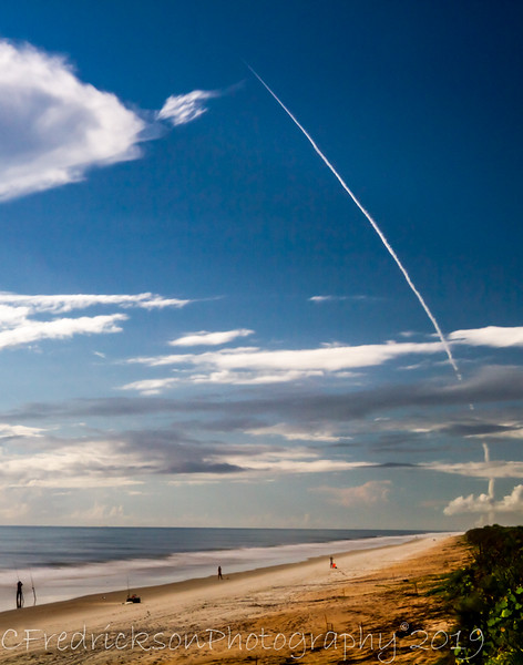 "Shot from 20 miles away at Canaveral National Seashore, New Smyrna Beach. Canon 5DM3 with Sigma 150-600mm G2.  Crops of 5% & 10%.  Processing in LR CCC.  This is the last Delta 4 rocket to ever take off.  <a href=""https://www.ulalaunch.com/about/news/2019/08/22/united-launch-alliance-successfully-launches-gps-iii-satellite-for-u.s.-air-force-space-and-missile-systems-center"">https://www.ulalaunch.com/about/news/2019/08/22/united-launch-alliance-successfully-launches-gps-iii-satellite-for-u.s.-air-force-space-and-missile-systems-center</a>"