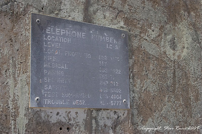 Phone numbers on the wall of the remains of the launch complex where the Apollo I fire occurred - Canaveral Air Force Station.