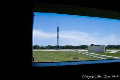 View from inside the blockhouse of Launch Complex 5/6 where Alan Shepard was launched into space from - Canaveral Air Force Station