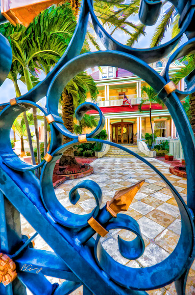 ~Through the Gate~<br /> <br /> An incredible sneek peek into a tropical paradise:  the Southern Most House in Key West.