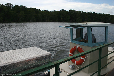 Little boat that powers the barge, creating the Ft. Gates Ferry.