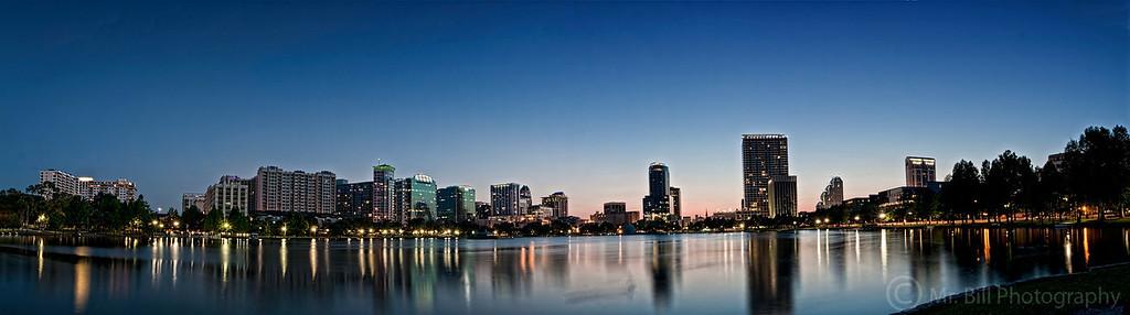 Downtown Orlando taken via Lake Eola