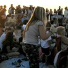 """The Crowds!!!  This picture is from the Nokomis/Casey Key Sunset Drumming Circle from  <a href=""""http://NokomisBeachDrumCircle.com"""">http://NokomisBeachDrumCircle.com</a> site.  Wed. & Sat. about an hour before Sunset.   I MISS THIS!!!"""