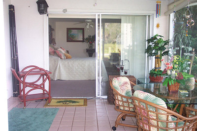 My bedroom opened onto the Lanai/enclosed patio so it was always WIDE open (I rarely used my 2 air-conditioners!!)
