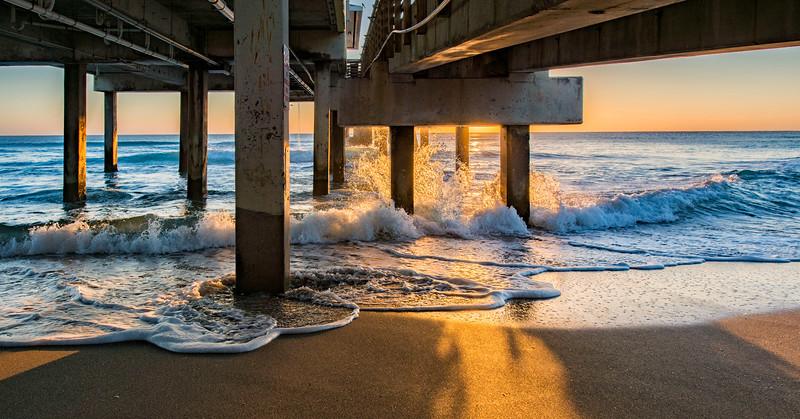 Under the Dania Pier