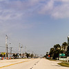 Highway A1A near Satellite Beach, FL.  Typical major league ugly beach town with almost no beach access parking.