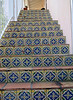 Stairs covered in traditional Spanish designed tiles lead up - Palm Beach - Florida