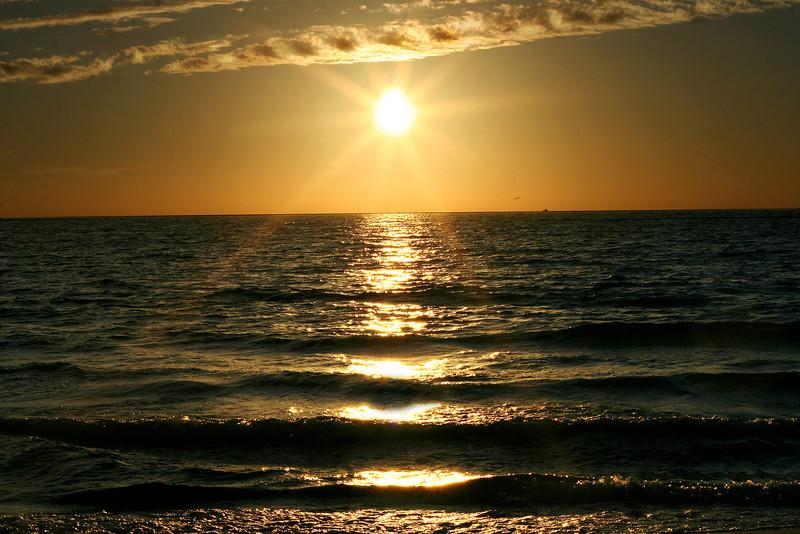 Beautiful sunset at Treasure Island, FL.