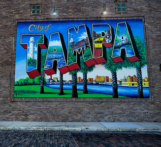 Tampa City Sign, Tampa Florida