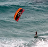Kite surfer tearing it up off of Palm Beach