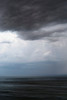 Rain clouds and horizon