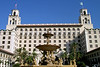 The fountain and luxurious exterior of the Breakers Hotel - Palm Beach - Florida