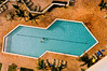 View from above the pool