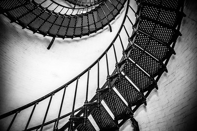 St. Augustine Lighthouse - Rising up the Stairs