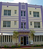 Hote Shelleyl an example of Art Deco Architecture style of SoBe - South Miami Beach - Florida
