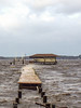 Hurricane Jeanne batters the dock.