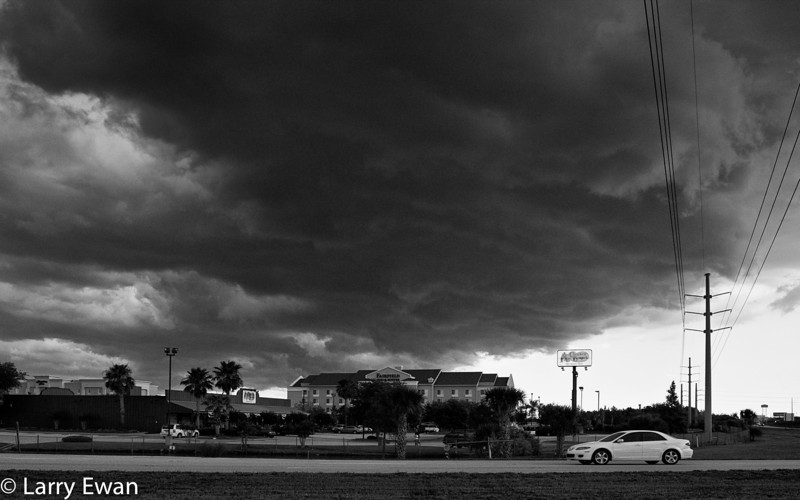Storm approaching Titusville near Florida Highway 50 and I95.