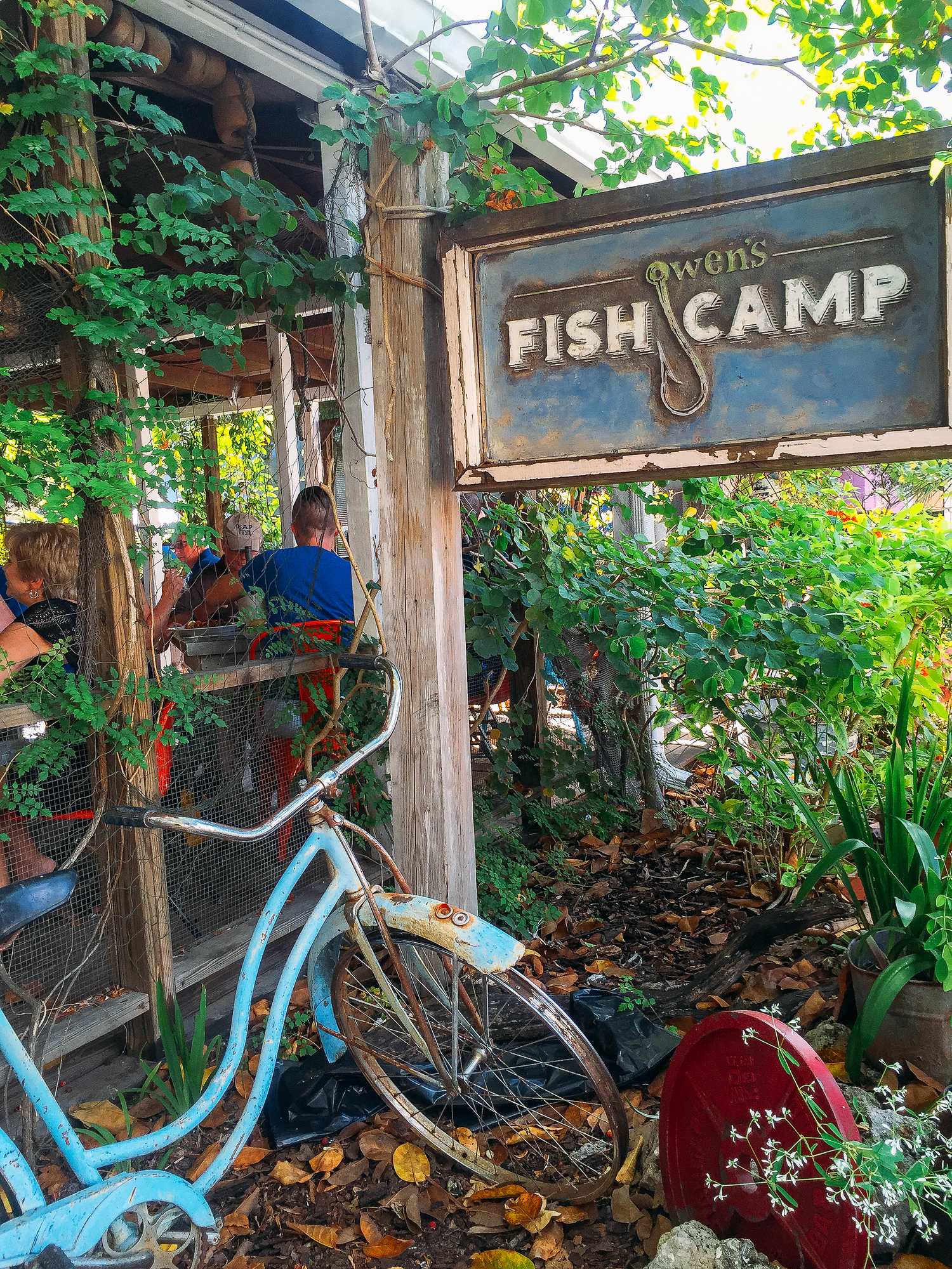 Owen's Fish Camp is just one of many places to eat in Sarasota, Florida.