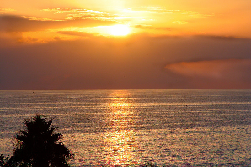 Gulf of Mexico sunset from the roof of Bubba Gump's, Maderia Beach, FL