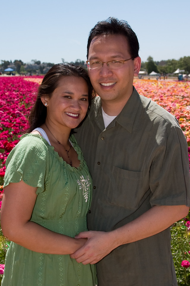 Catherine and Vu in the Flower Fields