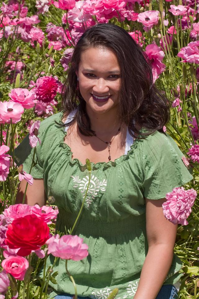 Catherine in the Flower Fields