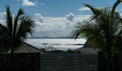 In the distance: St. Barts. Reminded me of the mythical Bali Hai from South Pacific.