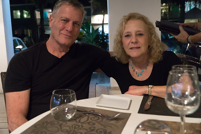 Us. Out for our first dinner down in St. Martin.