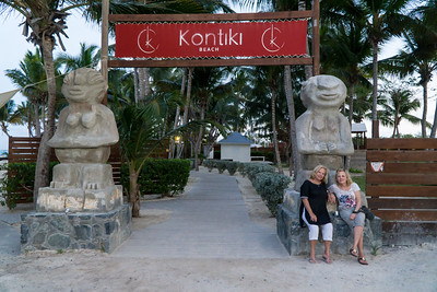 The women at Kontiki, a beach club on Orient Beach. They were closed.